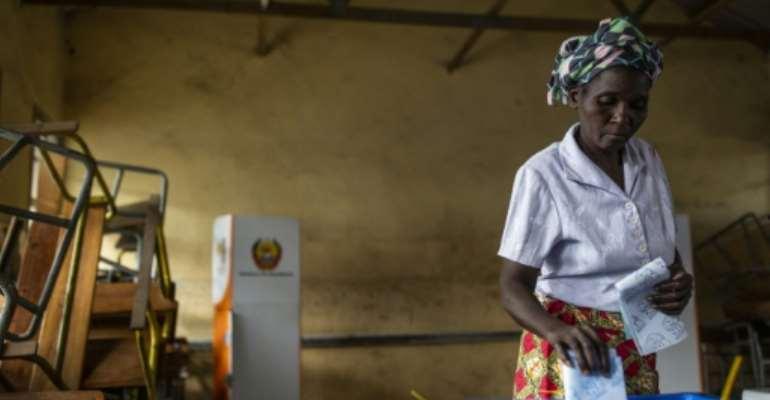 Around 13 million of Mozambique's 30 million citizens were registered to vote.  By PATRICK MEINHARDT (AFP)