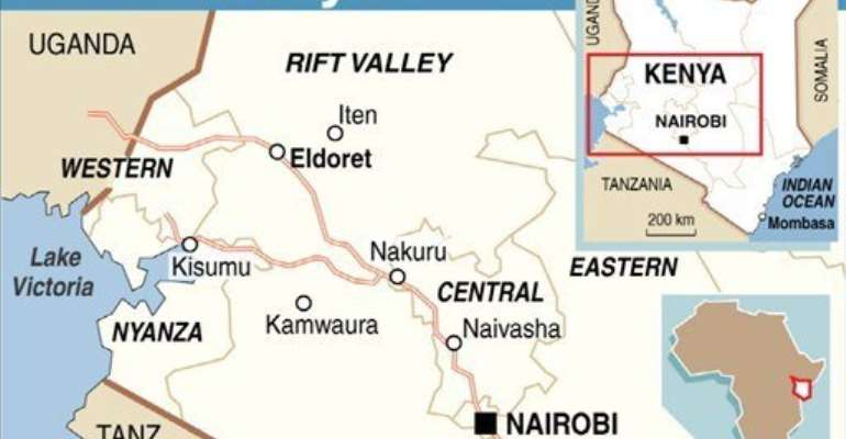 At least 12 people were wounded in two explosions in Kenya's Coast province Saturday.  By  (AFP/Graphic)