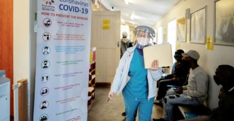 At least 240 South African health workers have died of coronavirus out of the more than 27,000 infected in the line of duty.  By Luca Sola (AFP/File)