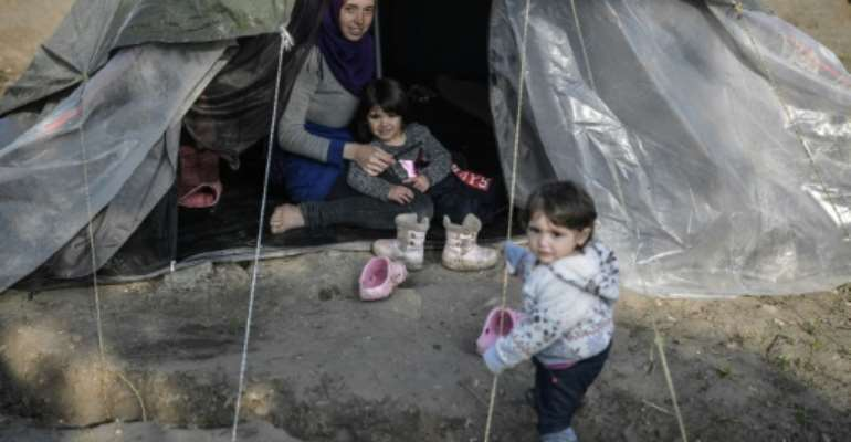 At the end of 2018, nearly 71 million people were living in forced displacement due to war, violence and persecution.  By LOUISA GOULIAMAKI (AFP/File)