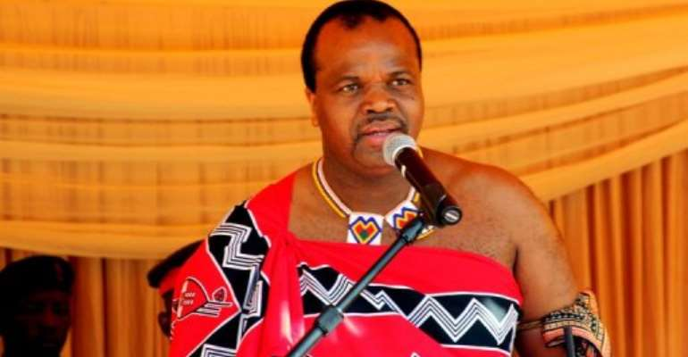 The newspaper is owned by King Mswati III.  By Jinty Jackson (AFP/File)