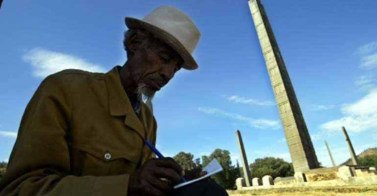 Axum is a UNESCO World Heritage site.  By MARCO LONGARI (AFP/File)