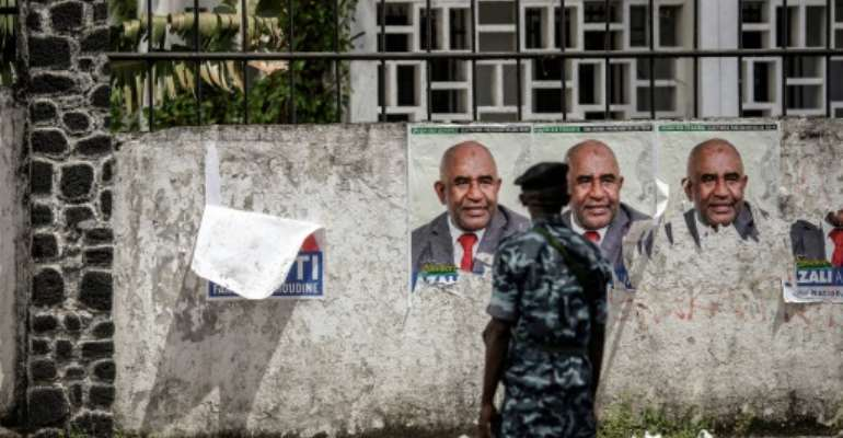 Azali Assoumani staged the poll after Comorans voted in a referendum, boycotted by the opposition, to support the extension of presidential mandates from one five-year term to two.  By GIANLUIGI GUERCIA (AFP)