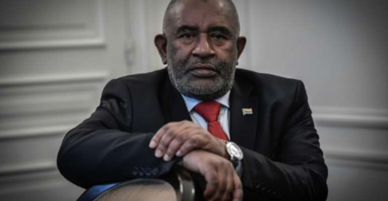 Azali was re-elected president in March, but critics say the vote was badly flawed.  By STEPHANE DE SAKUTIN (AFP)