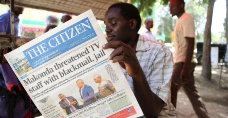 Azory Gwanda (not pictured) worked as a journalist for Tanzania's The Citizen and Mwananchi newspapers when he went missing in 2017.  By STRINGER (AFP/File)
