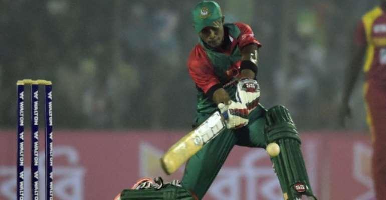 Bangladesh batsman Sabbir Rahman topscored for his side with 46 runs as they beat Zimbabwe in the first Twenty20 in Khulna on January 15, 2016.  By Munir Uz Zaman (AFP)