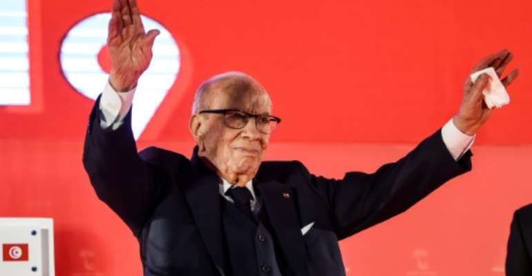 Beji Caid Essebsi is Tunisia's first democratically elected president.  By FETHI BELAID (AFP/File)
