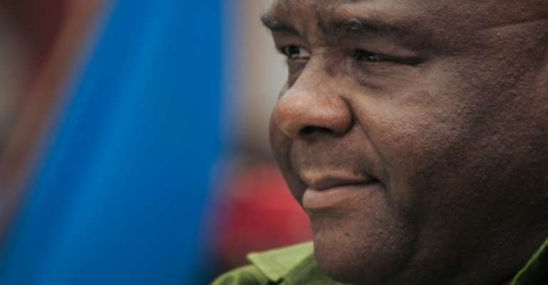 Bemba's hopes of contesting DR Congo's presidential elections were dashed after he was declared ineligible because of the 2017 bribery conviction.  By ALEXIS HUGUET (AFP)