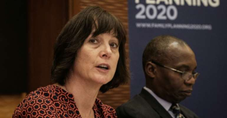 Beth Schlachter (L) said the use of modern contraception is growing fastest in Africa.  By Yasuyoshi CHIBA (AFP)