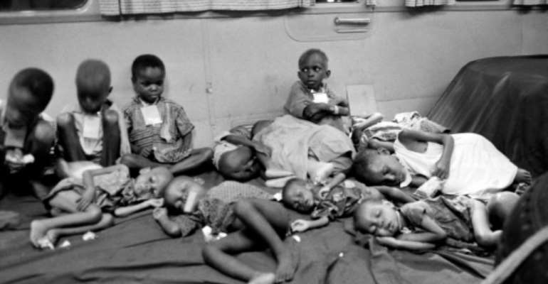 Biafran children were airlifted out of the region during the war.  By Francois Mazure (AFP/File)