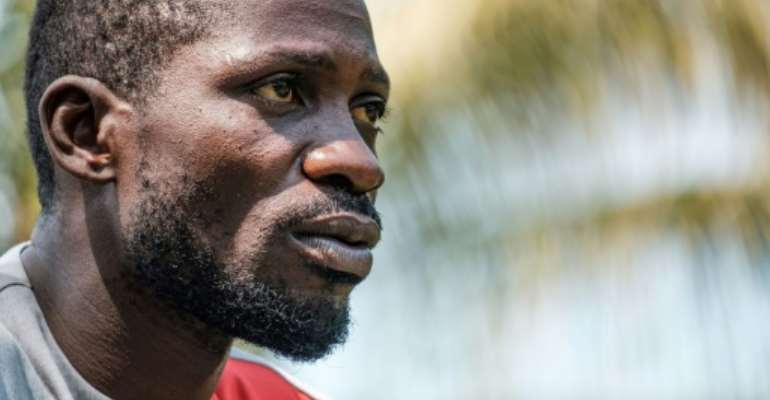 Bobi Wine has been arrested numerous times since 2018 and says he was sometimes tortured.  By SUMY SADURNI (AFP/File)