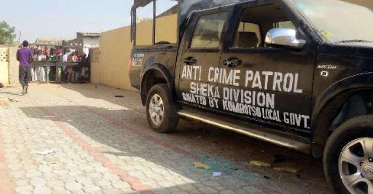 File photo shows a police station in Kano's Sheka neighbourhood on January 25, 2012.  By Aminu Abubakar (AFP/File)