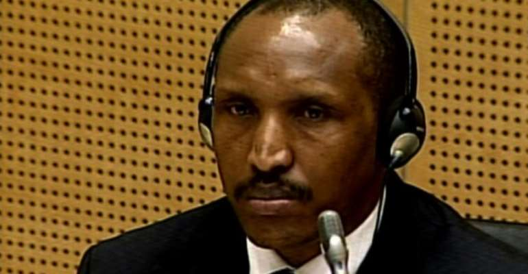 Bosco Ntaganda is accused of 13 charges of war crimes and five counts of crimes against humanity committed by his rebel militia.  By - (ICC/AFP/File)