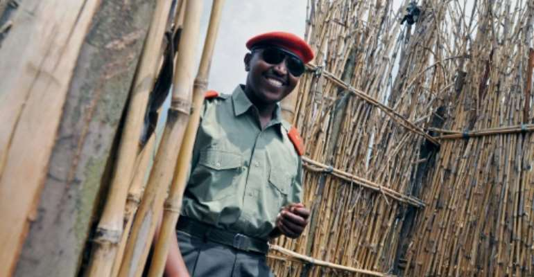 Bosco Ntaganda, seen here in 2009, is facing charges of war crimes and crimes against humanity at the International Criminal Court in The Hague.  By LIONEL HEALING (AFP/File)