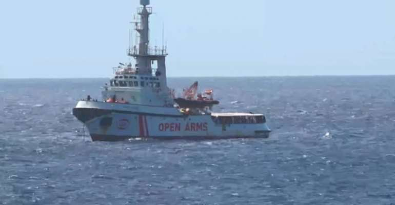 Both Italy and Malta have refused Open Arms permission to dock and unload its passengers.  By - (Local Team/AFP)