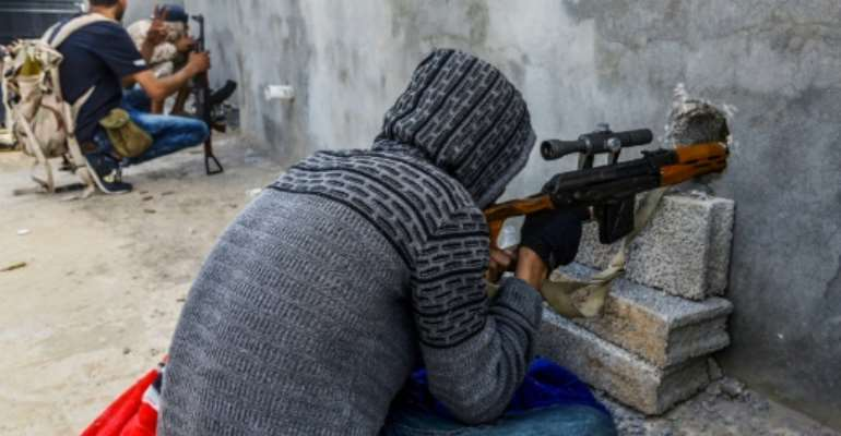 Both sides accuse each other of targeting civilians in the battle for Tripoli.  By Mahmud TURKIA (AFP)