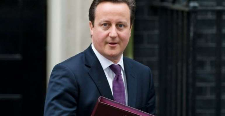 British Prime Minister David Cameron leaves 10 Downing Street in London on January 30, 2012.  By Leon Neal (AFP)