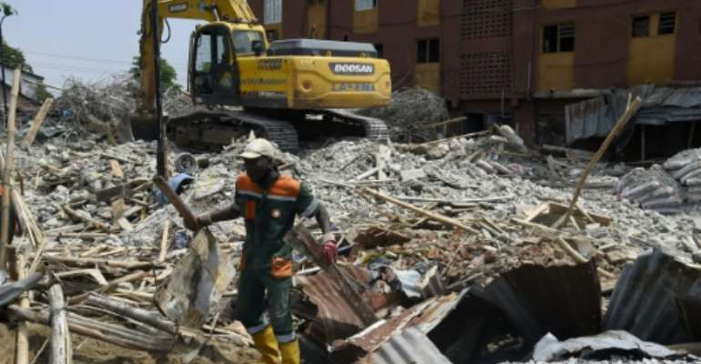 Building collapses are common in Nigeria, where millions live in dilapidated properties and construction laws are routinely ignored.  By PIUS UTOMI EKPEI (AFP)