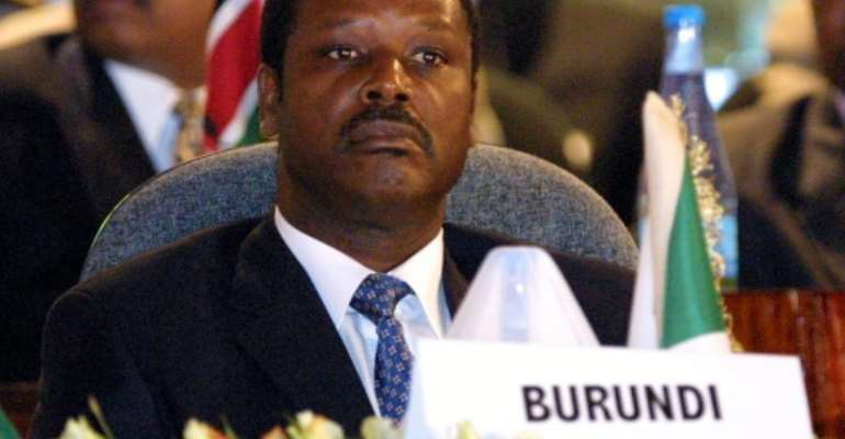Burundi's former president, pictured in 2001, has died from coronavirus.  By PEDRO UGARTE (AFP/File)