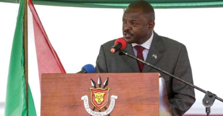 Burundi's President Pierre Nkurunziza has ruled since 2005.  By STR (AFP/File)