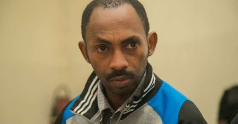 Callixte Nsabimana pleaded guilty at trial to terrorism and to spying for Burundi and Uganda.  By Cyril NDEGEYA (AFP/File)