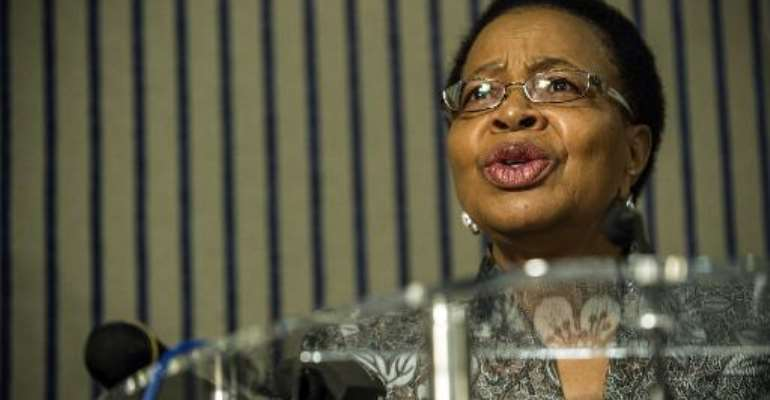 Nelson Mandela's widow, Graca Machel, seen here in Johannesburg on November 21, 2014, joined prominent activists to call for a full inquiry on sexual abuse by UN peacekeepers and personnel.  By Mujahid Safodien (AFP/File)