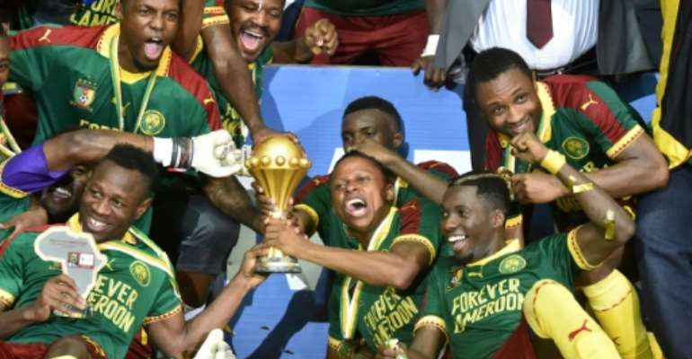 Cameroon are the Africa Cup of Nations holders, having won the continental title for the fifth time in 2017.  By ISSOUF SANOGO (AFP/File)