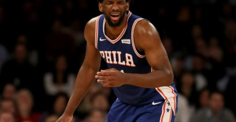 Cameroon-born Joel Embiid is among the African stars who could be featured in live telecasts on the new NBA Africa YouTube channel.  By ELSA (GETTY IMAGES NORTH AMERICA/AFP/File)