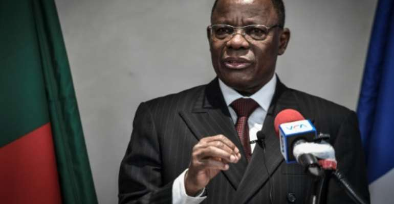 Cameroonian opposition leader Maurice Kamto has been prevented from leaving his house since September.  By STEPHANE DE SAKUTIN (AFP)