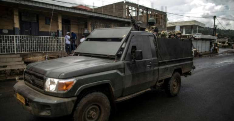 Cameroon's government has dispatched thousands of troops as part of a crackdown on the Anglophone separatists.  By MARCO LONGARI (AFP/File)