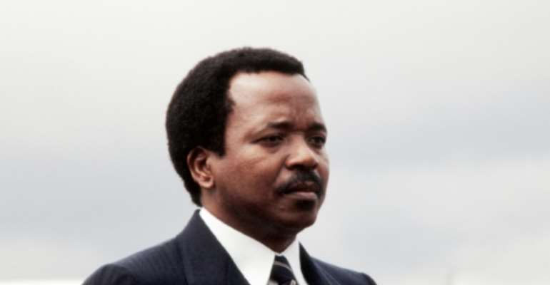 Cameroon's President Paul Biya, pictured here in 1983, has been in power for 37 years.  By PIERRE GUILLAUD (AFP/File)