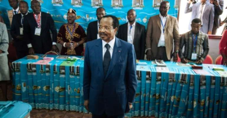 Cameroon's President Paul Biya, pictured in 2018, reiterated his offer of a
