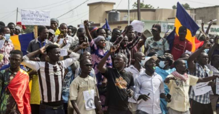 Chad has seen several bouts of unrest since a junta took charge in the April death fighting rebels of former president Idriss Deby Itno.  By Djimet WICHE (AFP)
