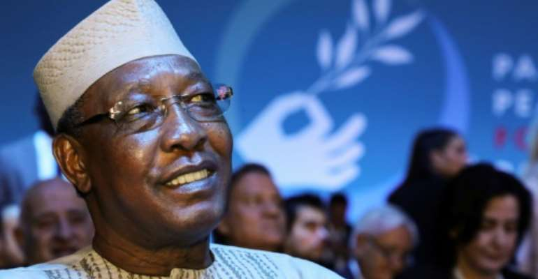 Chadian President Idriss Deby Itno, a former army chief, has been in power for 30 years.  By ludovic MARIN (POOL/AFP/File)