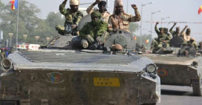 Chadian soldiers have been part of a regional force fighting against Boko Haram.  By BRHAIM ADJI (AFP)