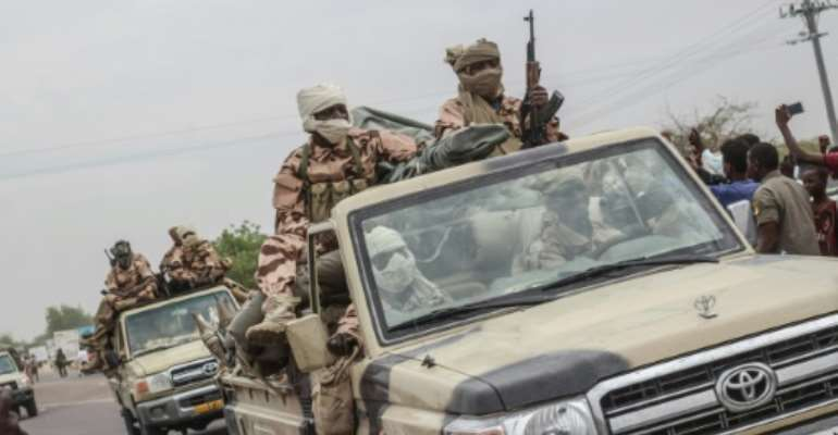 Chad's armed forces are facing attacks from rebels in the far north of the country and jihadist incursions from Nigeria in the southwest.  By Djimet WICHE (AFP)