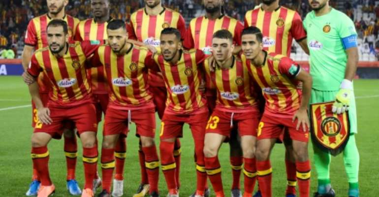 Champions Esperance finished the 26-round Tunisian league season unbeaten..  By KARIM JAAFAR (AFP)