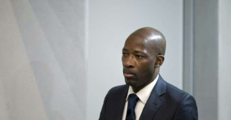 Charles Ble Goude has been living in The Hague since his acquittal by the ICC.  By Peter Dejong (POOL/AFP)