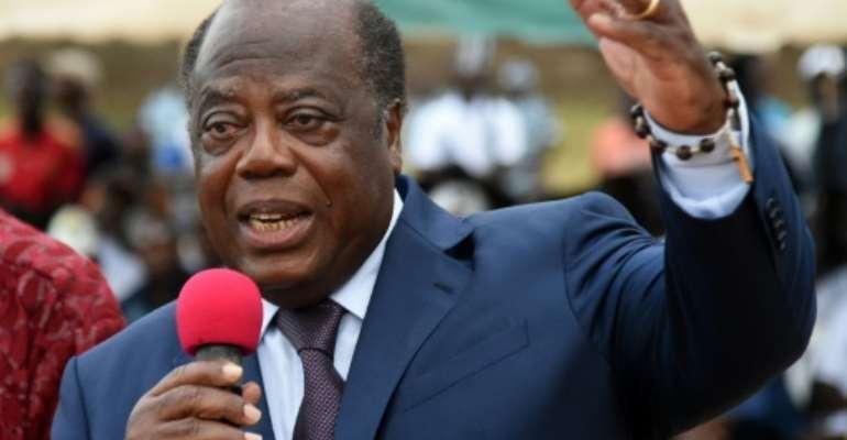 Charles Konan Banny died in hospital in Paris.  By Sia KAMBOU (AFP/File)