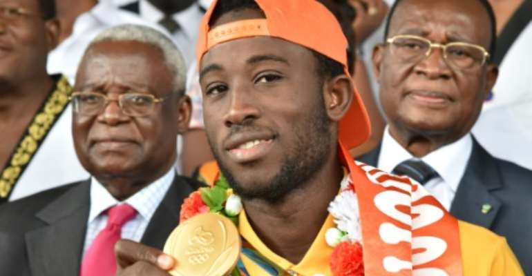 Cheick Sallah Cisse has gone from obscurity to national hero after winning the Ivory Coast's first Olympic gold.  By Issouf Sanogo (AFP/File)