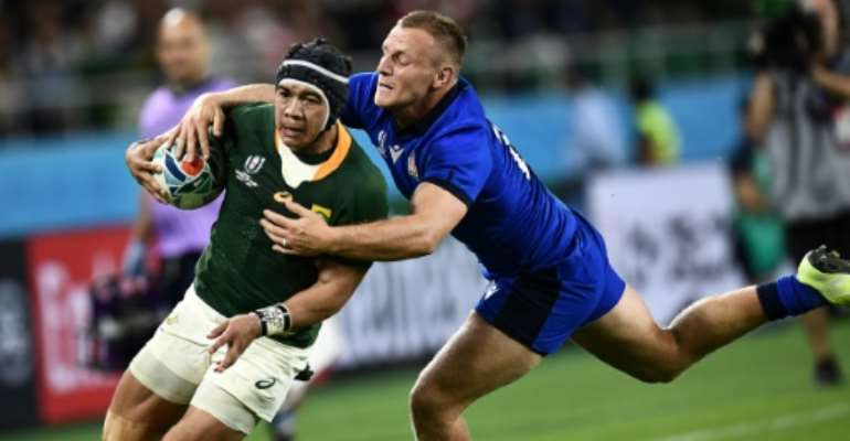 Cheslin Kolbe suffered the injury late on against Italy.  By Anne-Christine POUJOULAT (AFP/File)