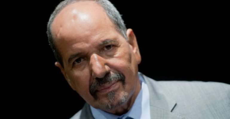 The body of Polisario Front secretary general Mohamed Abdelaziz, pictured in 2014, will be displayed in a camp for Sharaoui refugees south of the capital of Algeria.  By Pierre-Philippe Marcou (AFP/File)