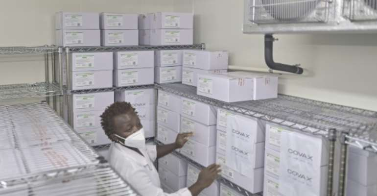 Chill factor: Kenya's first batch of Covid vaccines is being kept in a special cold store in Nairobi.  By TONY KARUMBA (AFP)