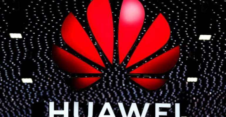 Chinese tech giant Huawei, now in the middle of US-Chinese tensions, has looked to bolster its ties in Africa.  By Pau Barrena (AFP/File)