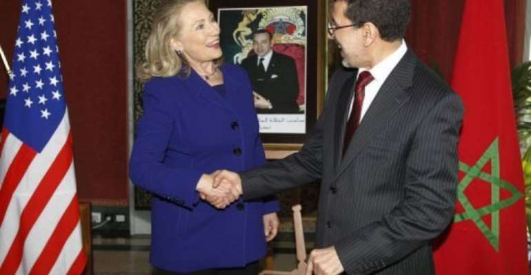 The talks are the first between Clinton and a member of the government elected in January.  By Jason Reed (AFP/Pool/File)