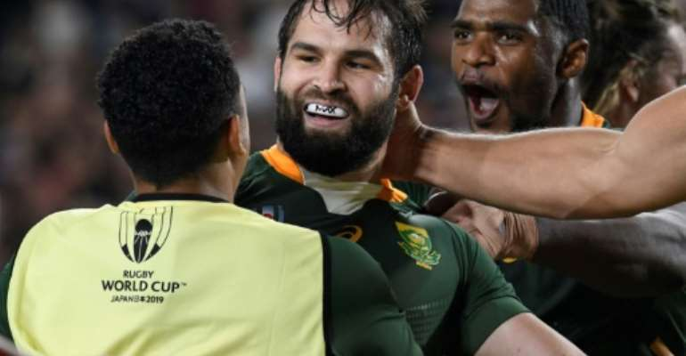Cobus Reinach has scored six tries in 14 Tests since his South Africa debut in 2014.  By Filippo MONTEFORTE (AFP/File)