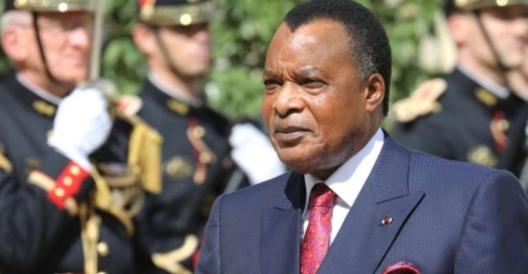 Congo President Denis Sassou Nguesso, pictured during a visit to Paris in 2019, first took office in 1979.  By ludovic MARIN (AFP/File)