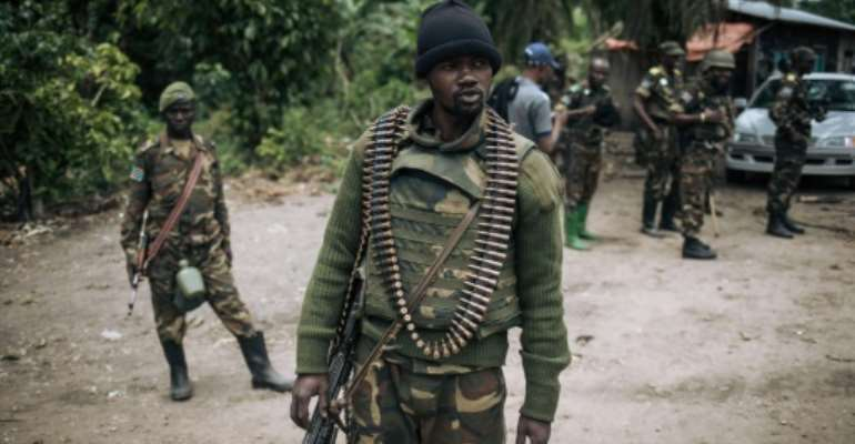 Congolese army troops first intervened in Beni province in October 2019.  By Alexis Huguet (AFP/File)