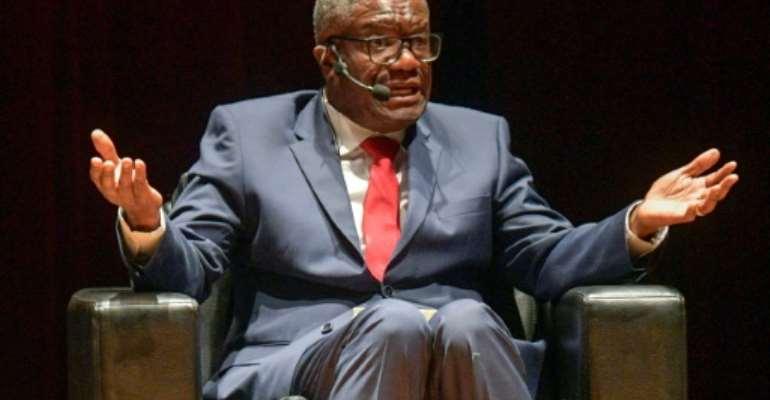 Congolese Nobel Peace prize winner Denis Mukwege described reports of the massacre in Kipupu as 'macabre'.  By Raul ARBOLEDA (AFP/File)