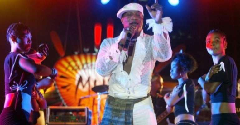 Congolese singer Koffi Olomide is accused of sexually assaulting four dancers while holding them against their will in the Paris region from 2002 to 2006.  By Seyllou (AFP/File)